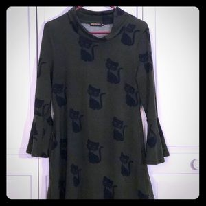 """Cat Lady"" bell sleeve Tunic"